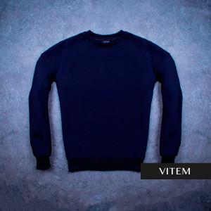Чоловічий темно-синій світшот з манжетами