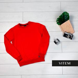 Чоловічий червоний світшот з манжетами