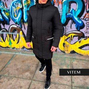 Водовідштовхувальна чорна чоловіча куртка