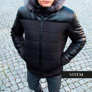 Тепла чоловіча зимова курточка