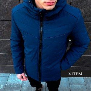 Зимова практична темно-синя чоловіча куртка