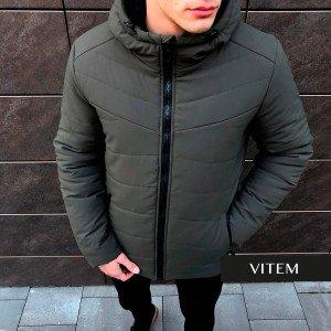 Зимова практична чоловіча куртка хакі