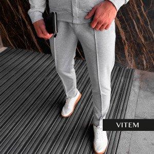 Чоловічі спортивні сірі штани
